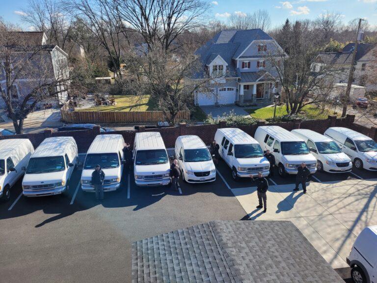 Fleet vans and technicians
